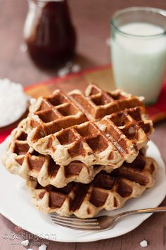 Homemade Gingerbread Liege Waffles