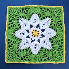 Beautiful crochet block for afghan