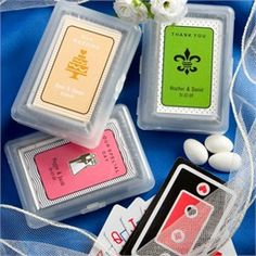best site for customizing playing cards for favors! party favors, card designs, gift, wedding favors, weddings, play card, playing cards, card favor, bridal showers