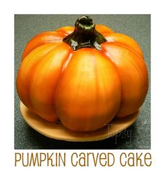 pumpkin fondant carved cake