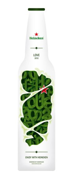 #heineken experimental #typography #design #bottle