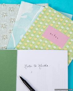 Wrapping Paper Notebooks