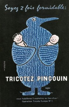 Tricotez Pingouin, Raymond Savignac