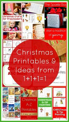 A HUGE collection of Christmas printables and ideas from 1+1+1=1