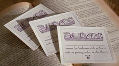 SNOBBY INTELLECTUAL Letterpress Bookplates 10 by rxletterpress