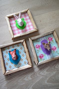 Mini trophies. How to: http://rebeccasdiy.blogspot.no/search/label/DIY