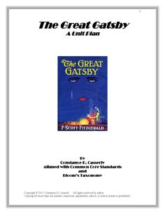 the great gatsby essay test