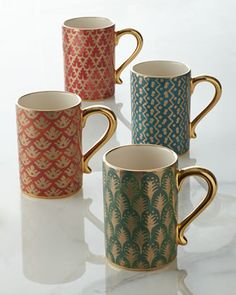 L'Object Four Assorted Fortuny Mugs