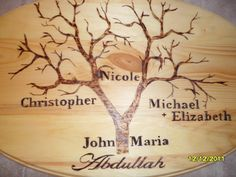 I made this family tree for the inlaws, and it was exciting to add my name to the tree. =)