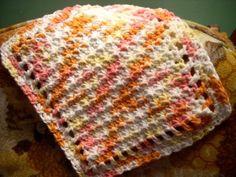 Blooming Patterns: Little Starbursts Dishcloth