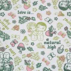 Love is Natural Cotton Jersey Knit Fabric