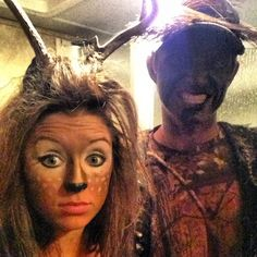 Deer and Hunter couples costumes