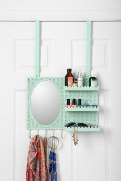 Over-the-Door Vanity Station // love the color! A MUST HAVE!