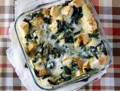 Egg and Spinach Strata... yummy!