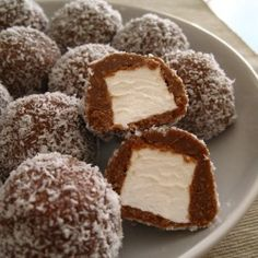 Marshmallow, Chocolate AND coconut? Yes, please.  Try with graham cracker crumbs for a S'more-ish experience.