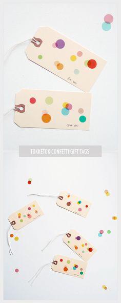 confetti gift tags