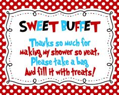 Red, White, Blue -- Candy Buffet/Candy Bar Sign -- 8x10 Print Your Own. $6.00, via Etsy.