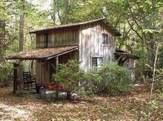 Old Cabin in the Woods.....