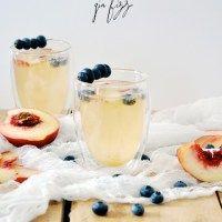 Summer in a glass Peach Gin Fizz