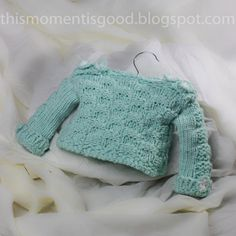 Loom Knit Checkerboard Baby Sweater Pattern:  12 Month Size.  Adorable!