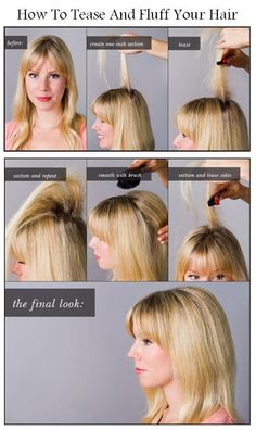 How to tease your hair
