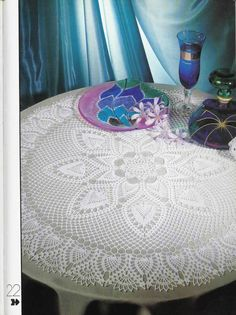 Crochet Doily Big Attraction White Lace by CrochetMiracles on Etsy, $45.00