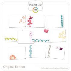 Project Life - Original (horizontal) - Journaling Cards; digital
