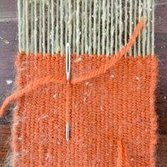A descriptive tutorial on how to make your own simple wood frame at-home weaving loom!