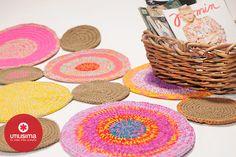 Alfombra con círculos, por Camila Aparicio. http://www.utilisima.com/manualidades/8900-alfombra-con-circulos.html