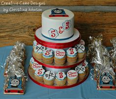 Thomas the Train Tower by Creative Cake Designs (Christina), via Flickr