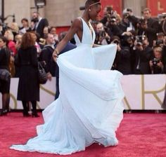 So elegant!!!!!! beauti lupita, women fashion, dream gown, prada gown, red carpets, inspir peopl, fabul lupita