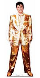 Elvis Gold Lame Suit 6 Feet Lifesize Standee Cardboard Cutout