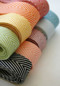 Grosgrain: Chevron Twill Herringbone Ribbon