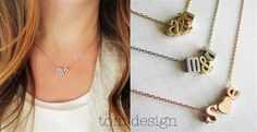 Gold, Silver, or Rose Gold Tiny Love Necklace