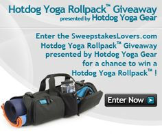 Enter the SweepstakesLovers.com Hotdog Yoga Rollpack™ Giveaway presented by Hotdog Yoga Gear for a chance to win an Hotdog Yoga Rollpack !    http://www.sweepstakeslovers.com/our-giveaways/sweepstakeslovers-com-hotdog-yoga-rollpack-giveaway-presented-by-hotdog-yoga-gear/
