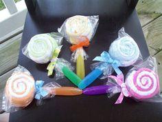 Wash Cloth Lollipops