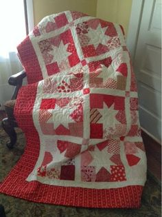 Snippets of a Quilter: Red and White
