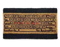 COMPUTER KEYBOARD DOORMAT | Coir, Carpet, Mat, Durable, Natural, Gifts for Geeks, Tech, Computer | UncommonGoods