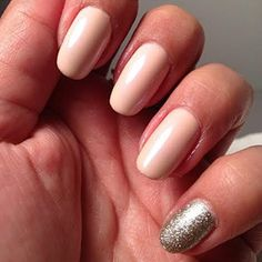 Like Your Accent: Okay, this is admittedly the easiest way to hide problem areas. Say you chipped your bright blue manicure and all you have on hand is black polish, or maybe glitter. Just paint over the entire chipped nail with a contrasting color, and there ya go: an accent nail.