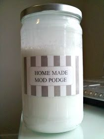 AT THE PARK'S: Homemade Mod Podge