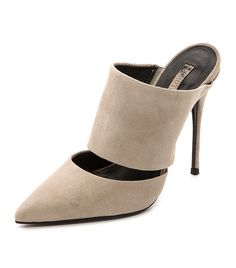 These Mules Are Way Cooler Than Your Basic Pumps // Schutz Quereda Suede Mules