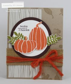 Fall Fest Card by Jill Coleman, Stampin' Up!