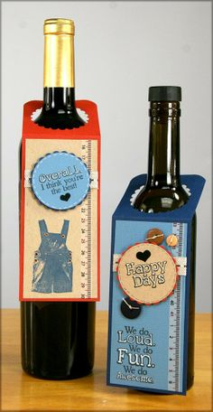 Club Scrap Creates: Bottle Topper Gift