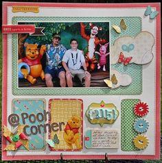 scrapbook layout pooh Disney