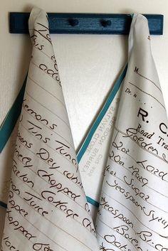 How-To: Handwritten Recipe Tea Towels