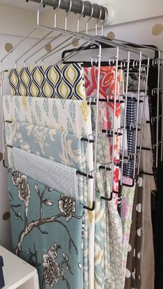 so many great organization ideas! (note the fabric and wrapping paper storage)