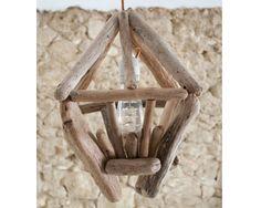 Driftwood lamp to hang