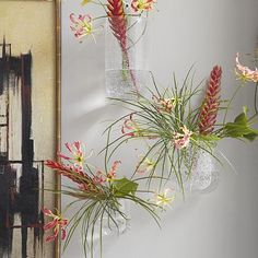 Hanging Bubble Glass Wall Planter #WestElm
