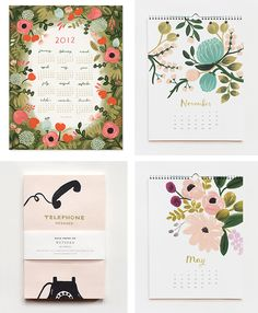 rifle paper co calendars / pretty papers