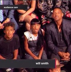 Will Smith's Family Reacting To Miley Cyrus. Priceless.